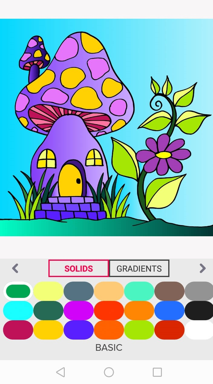 mushroom house - free coloring pages