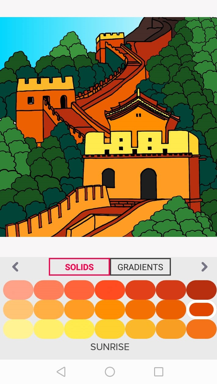 great wall of china - stay home and color