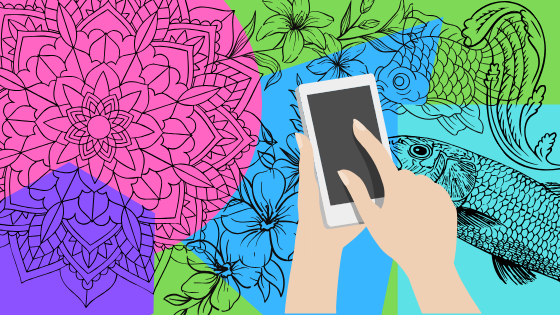 Beat Stress and Sleeping Difficulties with a Coloring Book App